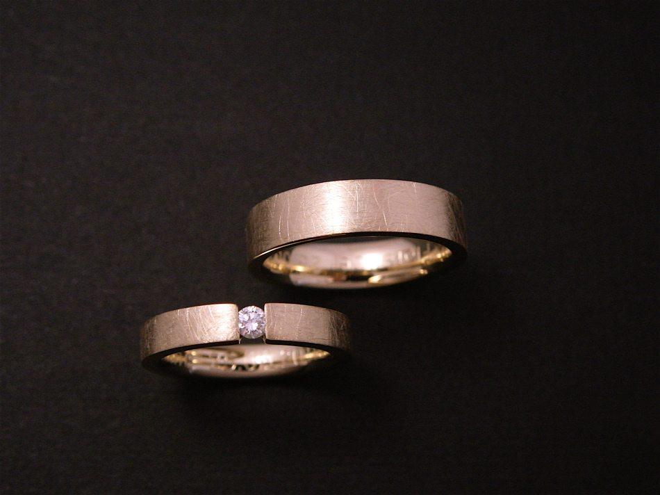 alliances or jaune, diamant ©